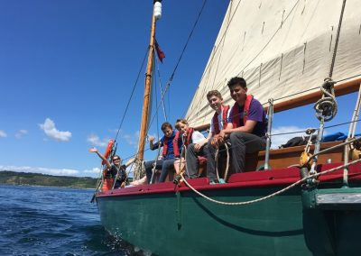 Moosk gaff yawl sail training boat