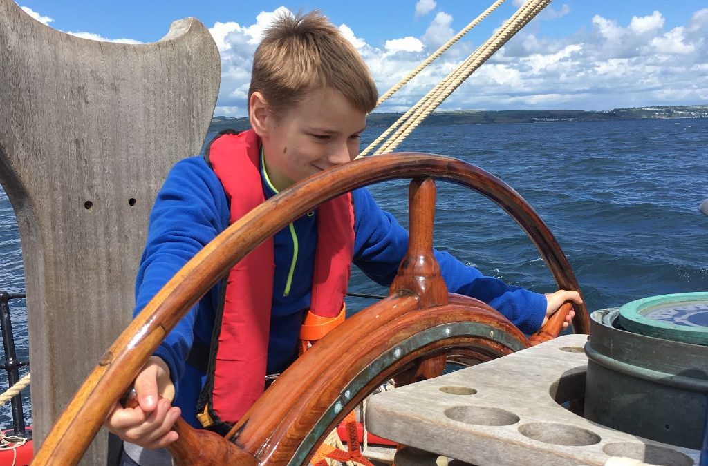 Reece is a dab hand on the VHF radio