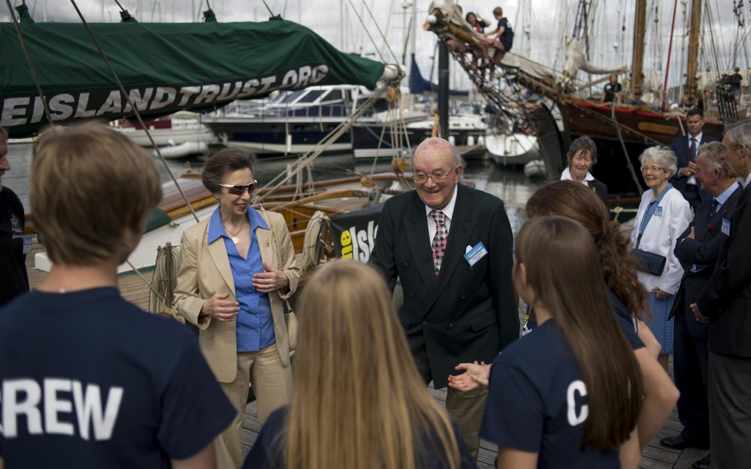 HRH The Princess Royal meets The Island Trust fleet